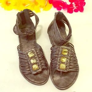 Coconuts Silver Bejeweled Sandals